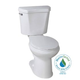 glacier bay 2piece 128 gpf high efficiency single flush elongated toilet in white - Kohler Wellworth