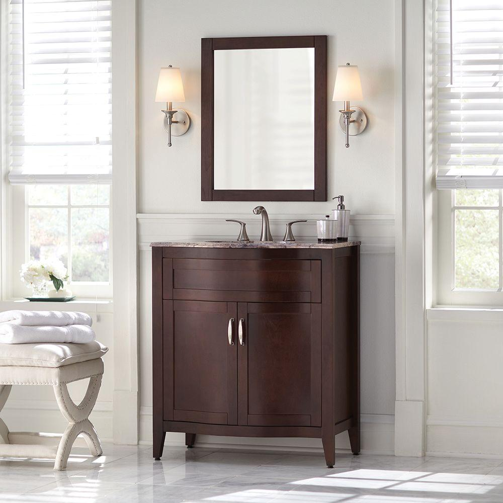 Home Decorators Collection Prado 30 In. Vanity With Stone Effects