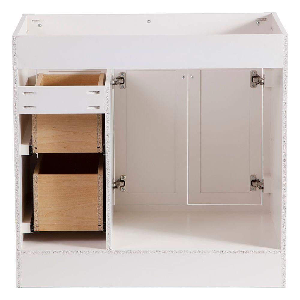 Brinkhill 36 In Vanity Cabinet Only In Cream Install Zoom