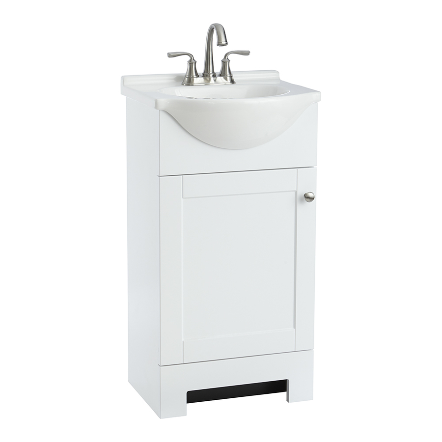 Bathroom Sinks 19 X 21 style selections euro white (common: 19-in x 19-in) integral